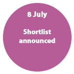 8 July - Shortlist announced